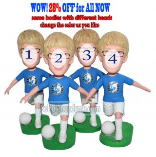 28% Off Bulk Buying Custom Bobble Heads Soccer Players Dribbing Ball