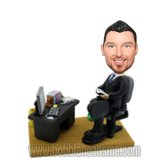 Custom Executive With The Office Background Businessman Bobbleheads