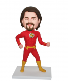 Personalized Running Flashman Bobblehead In Yellow Boots