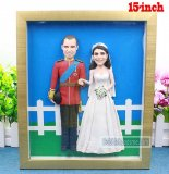 Fully customized single 2 doll with frame Wedding 15-inch