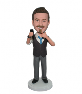 Autodyne Male In A Brown Vest Customized Bobbleheads