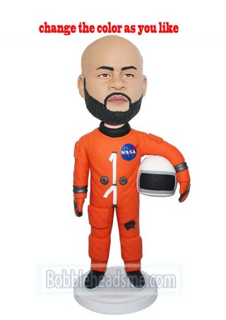 Customized Bobble Doll NASA Astronaut With Helmet Under Arm Doll