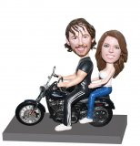 Personalized Motorcycle Couple Bobble Heads Valentine Gifts