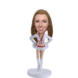 Bare Midriff Sexy Cheerleader Personalized Bobblehead Doll