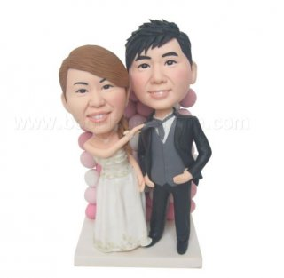 Drag Tie Bride And Groom Customized Bobbleheads
