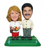 Personalized Figurines Couple Taking Walk In Park