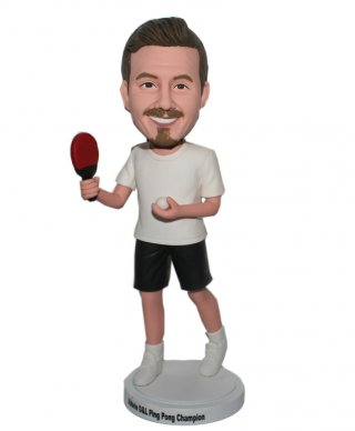 Customized Teble Tennis Bobblehead Male With Forehand Swing