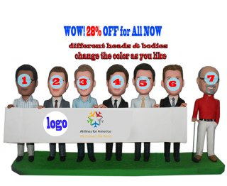 28% Off Cheap Personalized Bobblehead dolls Seven In One Base