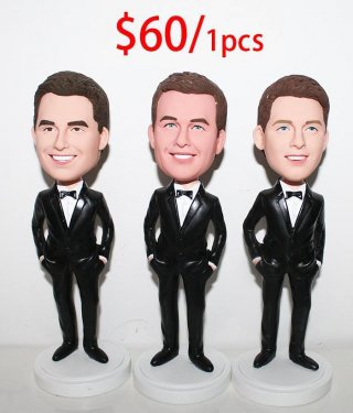 Custom Bobblehead Groupon Wholesale Cheap 3+