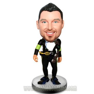 Scuba Diver With Equiment Custom Bobblehead Doll