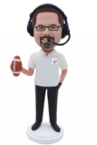 Personalized Football Sports Referee Bobbleheads
