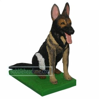 Custom Patrol Dog bobblehead Seat On The Green Grass Base