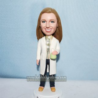 Long Coat Female In Jeans Custom Woman Bobblehead