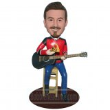 Custom Bobbleheads Guitar Player Figurines