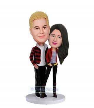 Personalized bobblehead Fashion Couple With Blazers