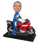 Customized bobblehead Male Astride On A Motorcycle