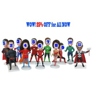 25% Off For All Customized Fiction Bobbleheads Costume Bobblehea