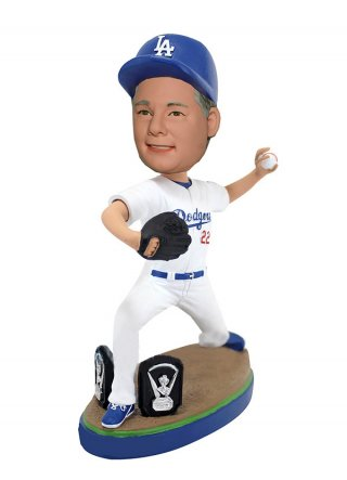 Customized Sports Bobbleheads Baseball Picther In Posing