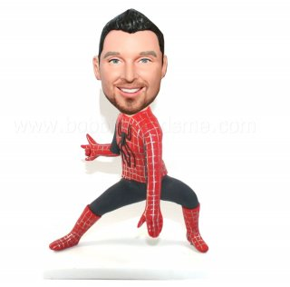 Customized Spiderman Shootind Web Bobble Doll