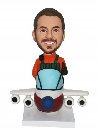 custom bobblehead airplane