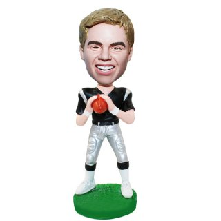 Football Player In Uniform Holing The Ball Custom Bobblehead