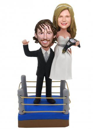 Custom Bobble Head Boxing Champion For Wedding Cak