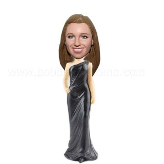 One Hand on hip Sexy Bridesmaid bobblehead doll