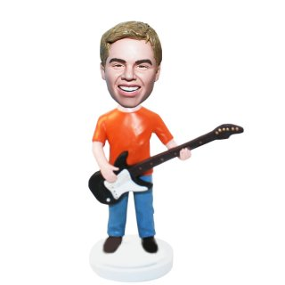 Casual Guitar Player In Blue Jeans Bobbleheads