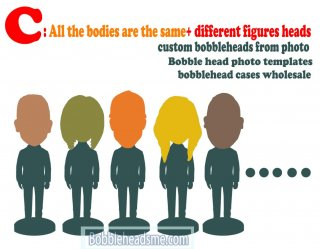 All the Bodies Are The Same+ Different Figures Heads Wholesale 2+