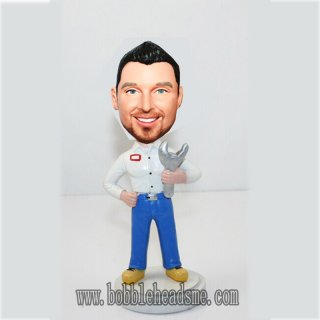 Custom Male Mechanic Bobbleheads Doll