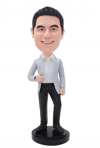 Custom Suit Bobblehead Free Shipping