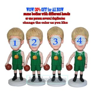 30% Off Customized Make Basketball Player Bobbleheads In Green Jersey