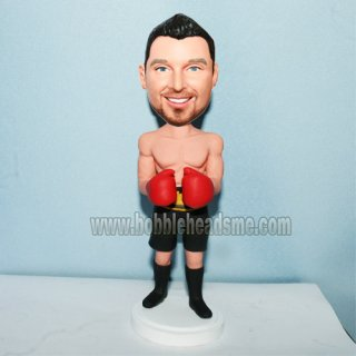 Shirtless Boxer Man In Gloves Custom Bobbleheads