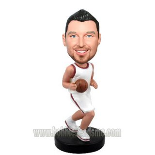 Drbbing Ball Basketball Player Custom Bobblehead Doll