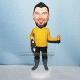 Costum StarTrek Captain In Yellow Bobbleheads Doll