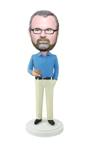 Personalized Bobbleheads Male In Shirt And Pants With Patties