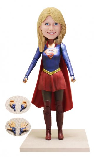 Custom Superwoman Bobble Head Of Yourself