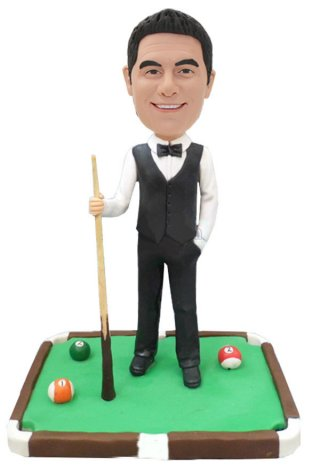 Custom Bobblehead Billiard Ball