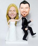 No Runaway Groom Wedding Couple BobbleHeads
