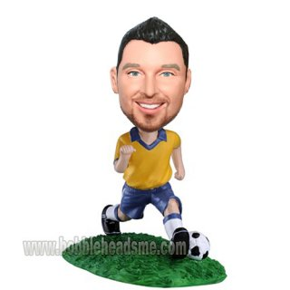 Boy With Soccer Ball Bobblehead Doll Football Figurines