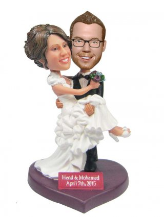 Custom Wedding Bobble Heads Cake Topper Wedding Gifts