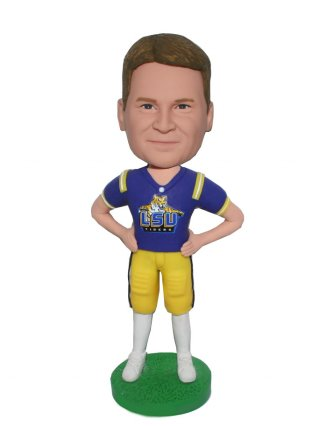 Custom Bobbleheads Football Player In LSU Tigers Football