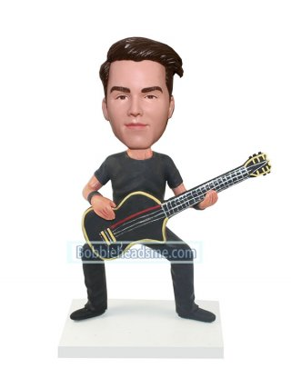 Guitar bobbleheads Male In Casual Dress Playing Guitar