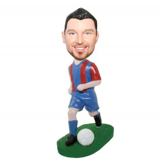 Dribbing Soccer Ball Male Custom Bobbleheads