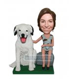 Custom Girl And Dogs Bobbleheads From Photos