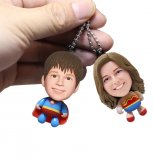 Custom Superwoman And Wonder Woman Bobblehead Key Ringn Of Yourself