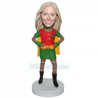 Red Green And Red Custom Superhero Female Bobble Heads