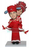 Custom Bobble Heads Groom Carrying Bride In Chinese Traditional