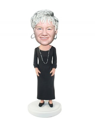 Custom Long Dress Skirt Women Bobble Head