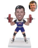 Custom Made Weightlifting Bobble Heads Of Yourself